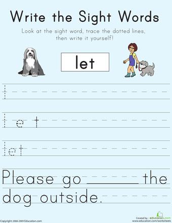 Education com worksheets first grade