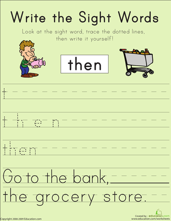 1st grade sight word worksheets. Black Bedroom Furniture Sets. Home Design Ideas