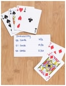 Science fair project idea helps conceptualize probability. Compare probabilities and outcomes of cards drawn from a standard playing deck.