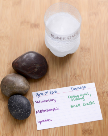 Fifth Grade Science Science projects: Which Type Of Rocks Are Most Damaged By Freezing?