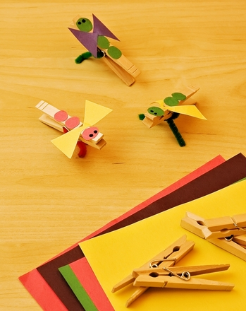 Kindergarten Arts & Crafts Activities: Craft a Clothespin Bug