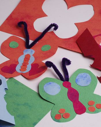 Kindergarten Arts & Crafts Activities: Butterfly Mobile