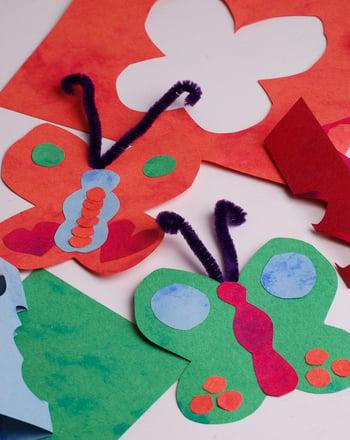 Kindergarten Science Activities: Butterfly Mobile