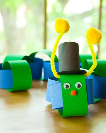First Grade Arts & crafts Activities: Paper Chain Caterpillar Craft