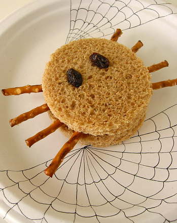 Fourth Grade Recipes Activities: Spider Halloween Sandwiches
