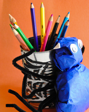Fourth Grade Arts & Crafts Activities: Spider Pencil Holder