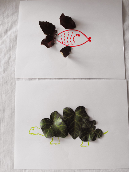 Fifth Grade Arts & Crafts Activities: Leaf Animals