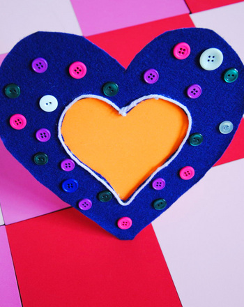 Third Grade Arts & crafts Activities: Heart Frame