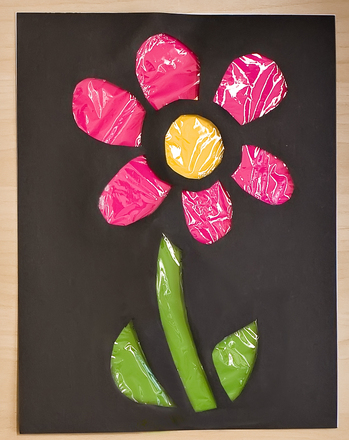 "Third Grade Holidays & Seasons Activities: ""Stained Glass"" Flower"