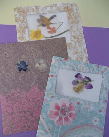 Third Grade Holidays Activities: Pressed Flower Cards