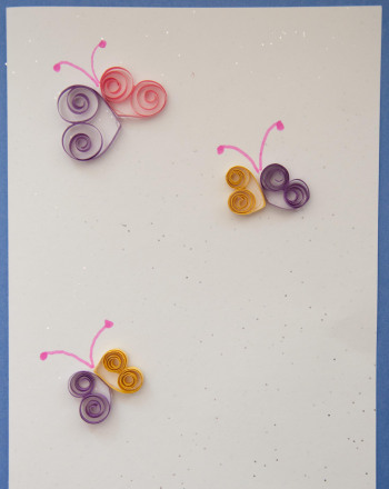 Fourth Grade Holidays & Seasons Activities: Quilled Cards