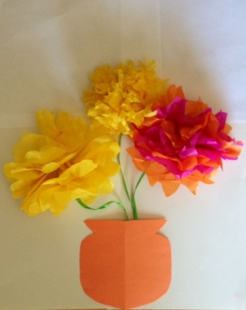 Second Grade Arts & crafts Activities: 3-D Flowers