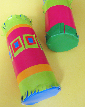 Kindergarten Arts & Crafts Activities: Toilet Paper Roll Maracas