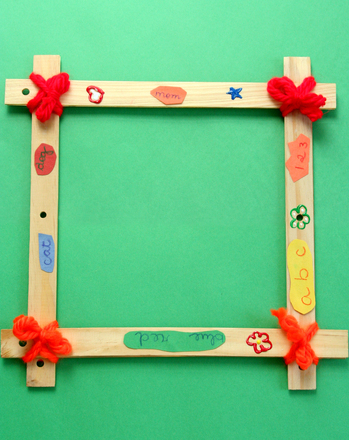 Kindergarten Reading & Writing Activities: Make a Thank You Frame
