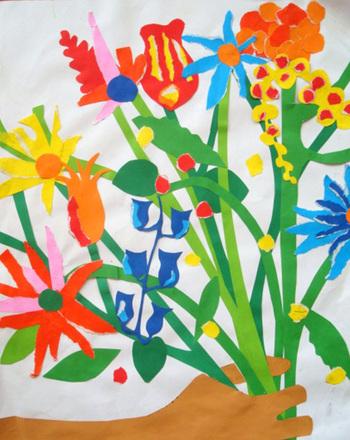 third grade arts crafts activities create a shredded paper flower bouquet