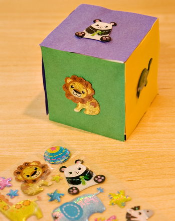 Preschool Arts & Crafts Activities: Animal Dice