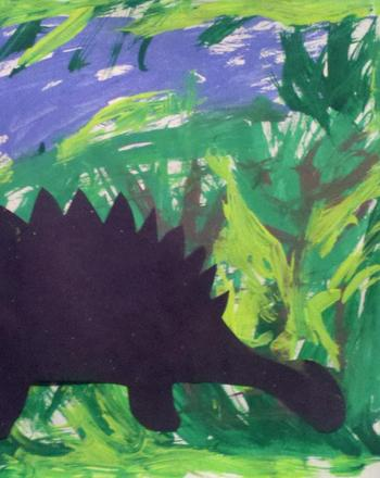 Kindergarten Arts & crafts Activities: Dinosaur Silhouette