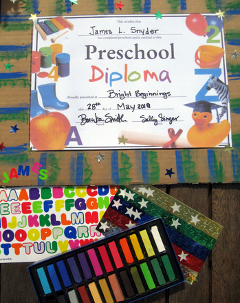 Preschool Reading & Writing Activities: Diploma Frame