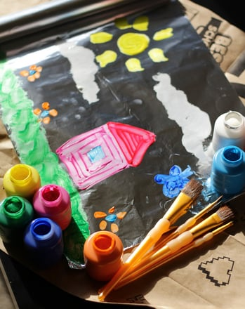 Preschool Reading & Writing Activities: Foil Painting