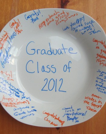 High School Arts & crafts Activities: Graduation Keepsake Plate