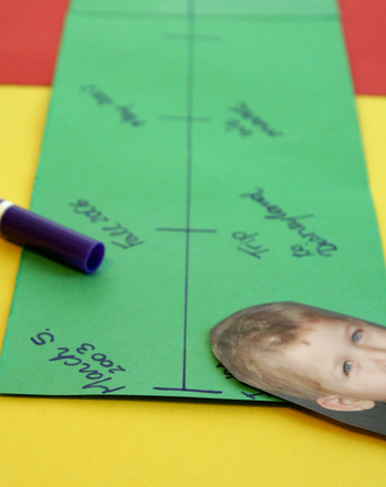 Kindergarten Arts & crafts Activities: Make a ME Timeline