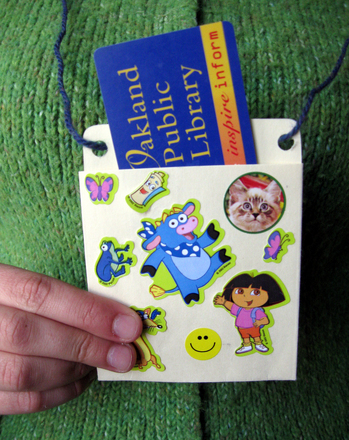 Kindergarten Holidays & Seasons Activities: Make a Library Card Holder