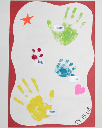 Second Grade Social Studies Activities: Hand Print Family Treasure