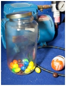 Science fair project which teaches you about the principles of physics within a vacuum by creating a vacuum chamber.