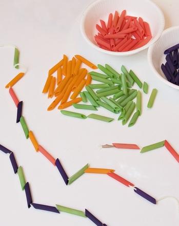 Kindergarten Arts & Crafts Activities: Make a Pasta Pattern Necklace
