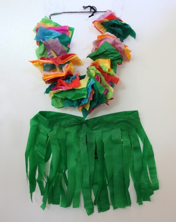 Kindergarten Arts & crafts Activities: Create a Hawaiian Costume!