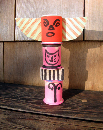 First Grade Arts & crafts Activities: Craft a Mini Totem Pole