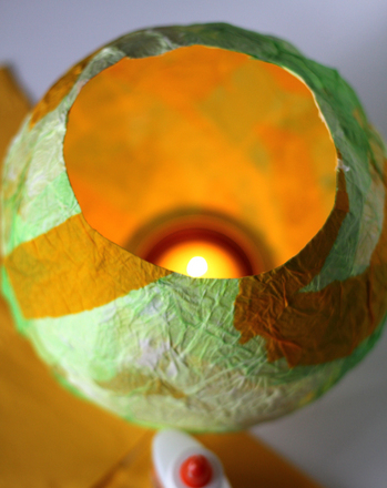 Kindergarten Arts & crafts Activities: Make a Glowing Orb Lantern