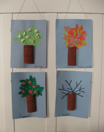 Preschool Arts & Crafts Activities: Make Four Season Trees!