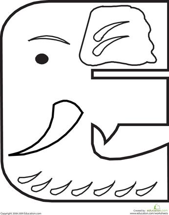 Animal Alphabet Letters Coloring Pages   Education.com