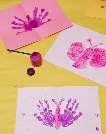 Kindergarten Arts & Crafts Activities: Make a Handprint Butterfly