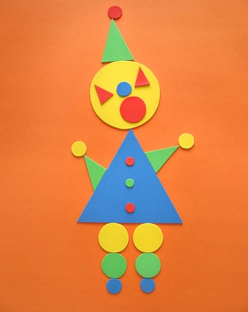Preschool Math Activities: Make a Triangle-Circle Clown