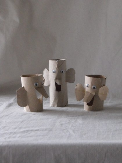 Second Grade Arts & crafts Activities: Elephant Family