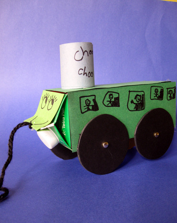 Kindergarten Arts & crafts Activities: Make a Milk Carton Train