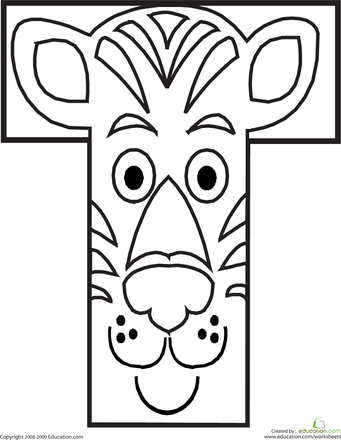 Animal Alphabet Letters Coloring Pages | Education.com