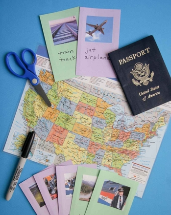 Second Grade Games Activities: Learn New Words with Travel Vocabulary Cards
