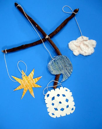 Preschool Arts & Crafts Activities: Create a Weather Mobile!
