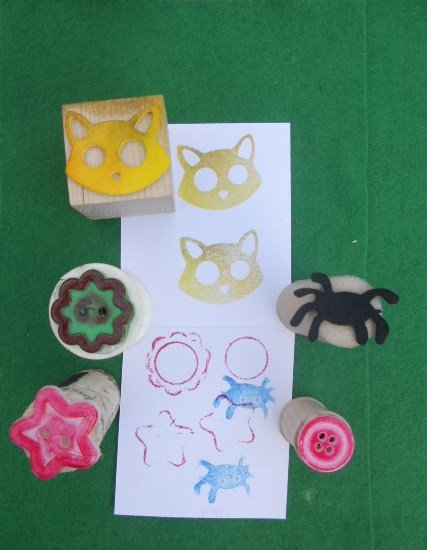 First Grade Arts & Crafts Activities: Homemade Stamps