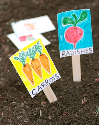 Kindergarten Holidays & Seasons Activities: Make Your Own Garden Markers