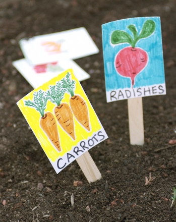 Kindergarten Reading & Writing Activities: Make Your Own Garden Markers