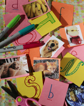 Kindergarten Arts & Crafts Activities: Make an Alphabet Memory Game