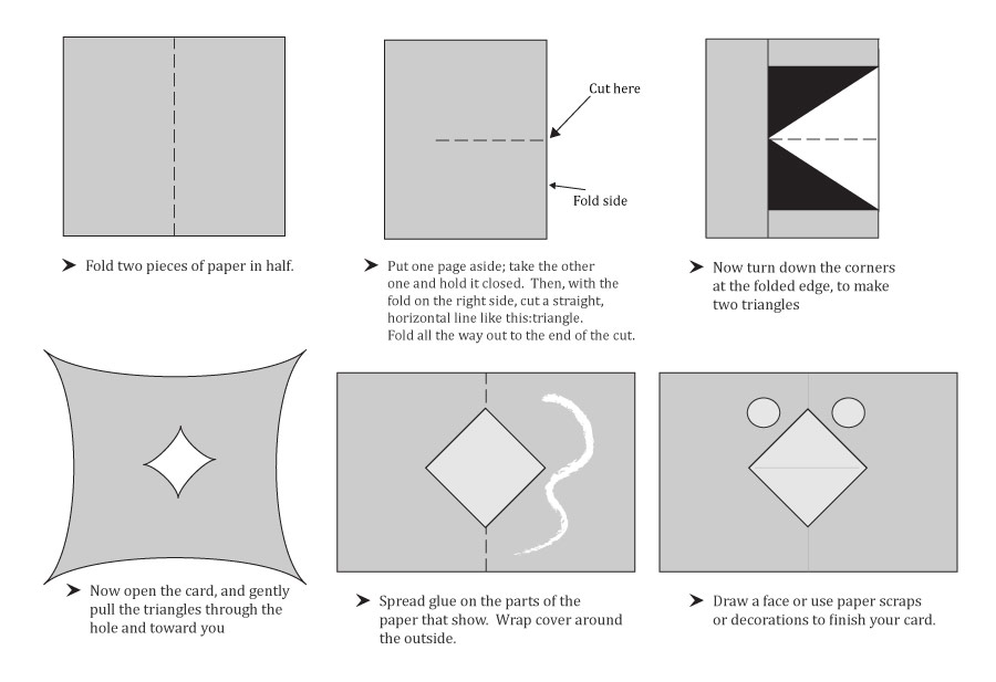pop-up card instructions