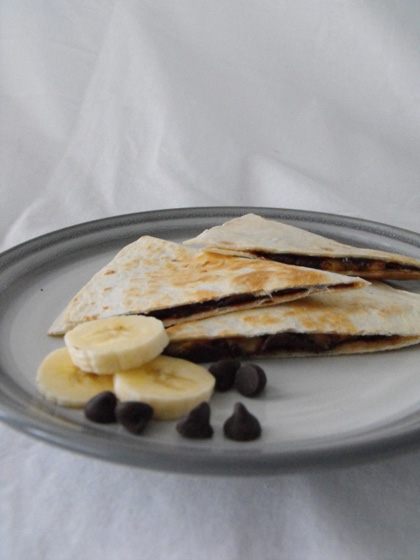 Kindergarten Recipes Activities: Dessert Quesadilla