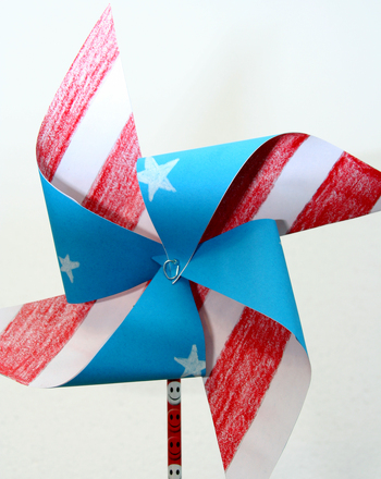 First Grade Holidays Activities: Patriotic Pinwheel