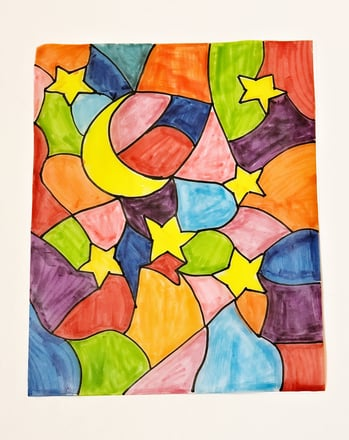 Kindergarten Arts & crafts Activities: Get Colorful with a Stained Glass Drawing!