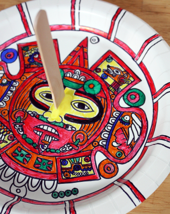 Third Grade Social Studies Activities: Make an Aztec Sundial